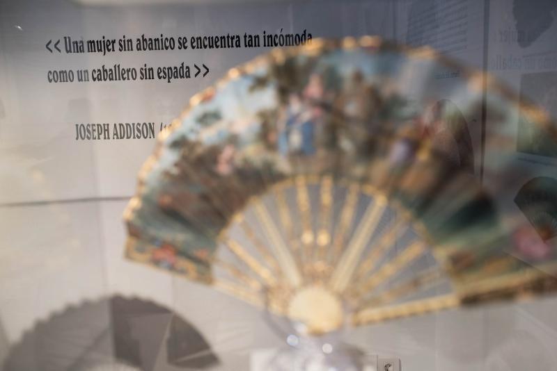 Exposición de abanicos en la Casa Museo Cayetano Gómez Felipe