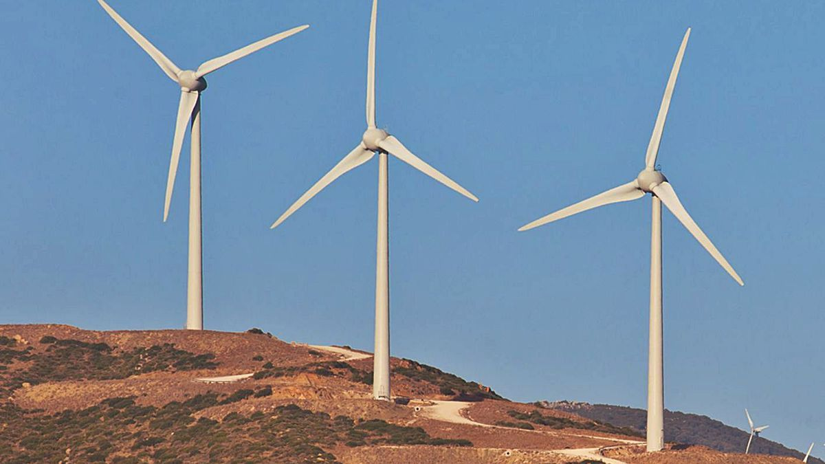 Modelo de aerogeneradores que se instalarán en el parque eólico de San Bartolome.