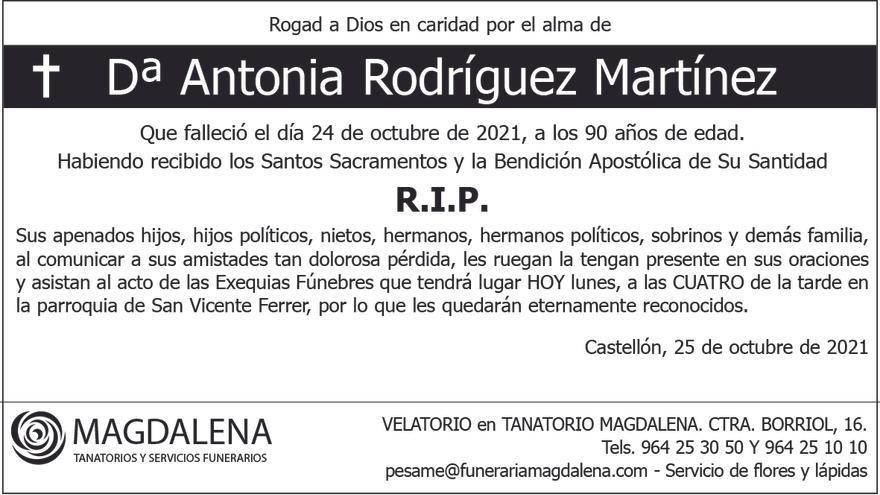 Dª Antonia Rodríguez Martínez