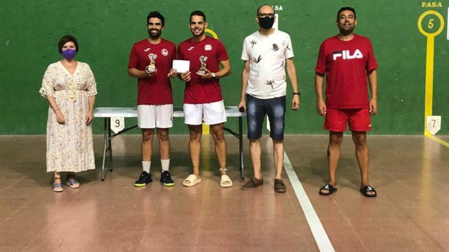 Fran y Andrés ganan el XXIII Trofeu de Frontenis de Canals