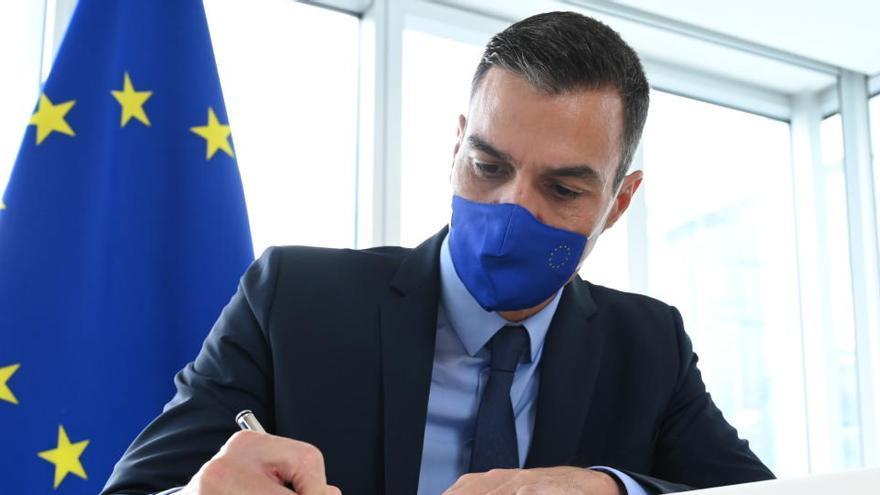 Sánchez apremia a Sassoli para que apruebe los fondos europeos contra la crisis