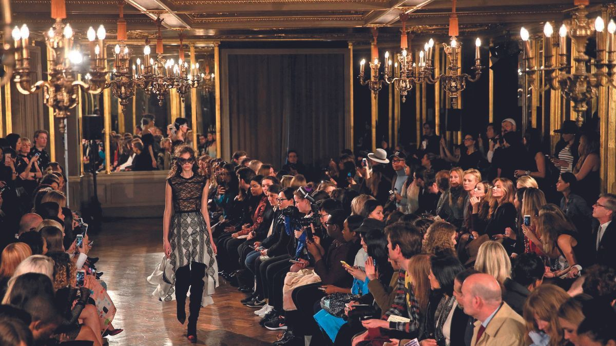 An edition of London Fashion Week, before the pandemic