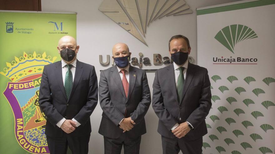 Unicaja respalda a la Federación Malagueña de Peñas con un servicio financiero integral ante la Covid-19