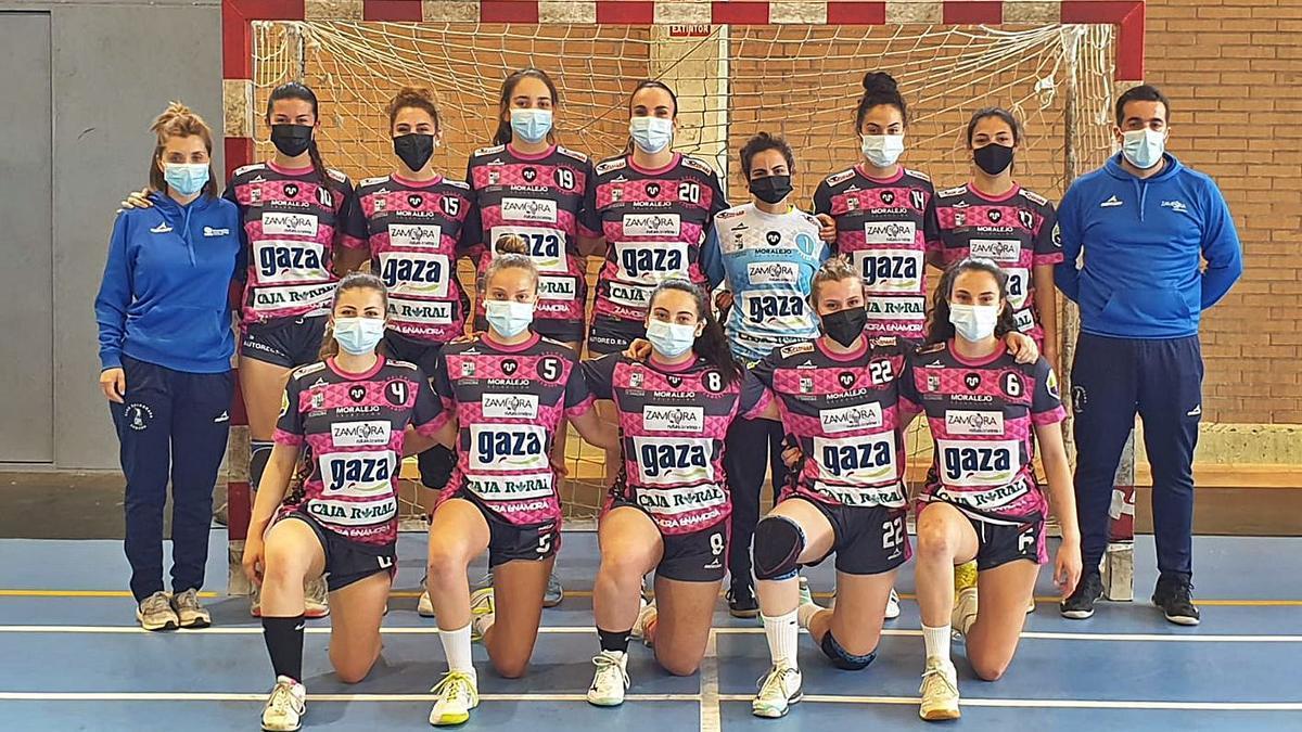 Formación del Leche Gaza-BM Zamora que ha acabado cuarto en la Primera Nacional Femenina.   BM Zamora