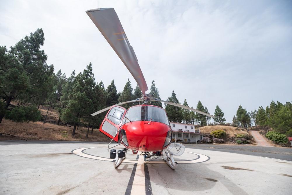 El segundo helicóptero contraincendios del Cabildo