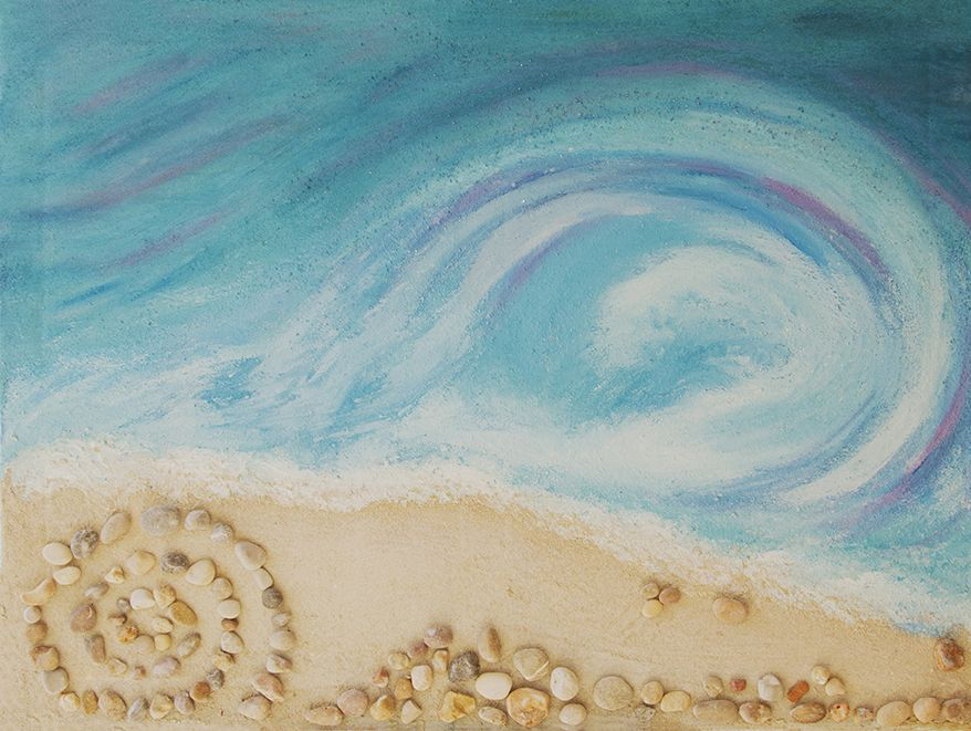 La obra  'Una ola del Cantábrico en Ibiza'