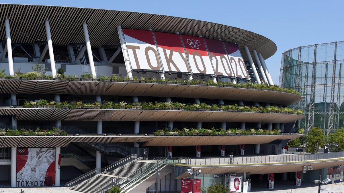 El estadio nacional japonés.