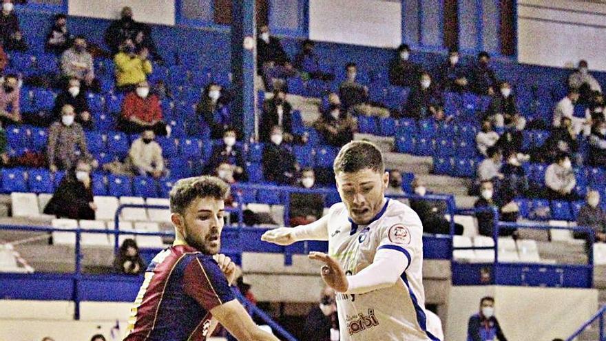Los tempraneros goles    del Barça 'B' sentencian al Alzira FS frente a su afición