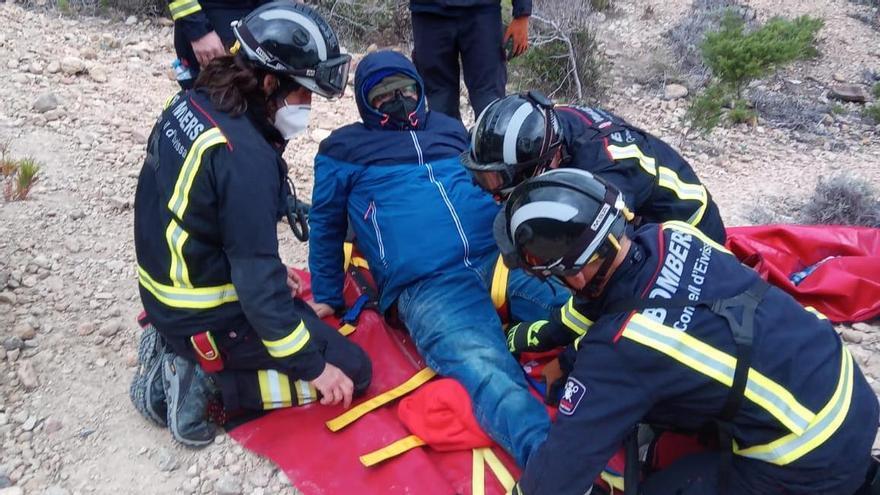 Rescate en el mar de bomberos de Ibiza