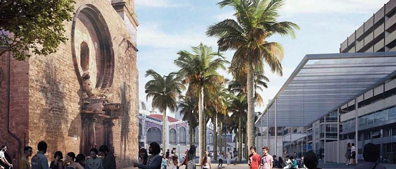 Representación virtual de la futura plaza Ciudad de Brujas. | LEVANTE-EMV
