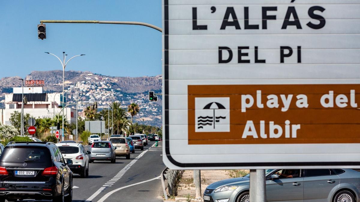 Tramo de la N-332 que el Ministerio de Transportes, Movilidad y Agenda Urbana ha transferido al Ayuntamiento de l'Alfàs del Pi.