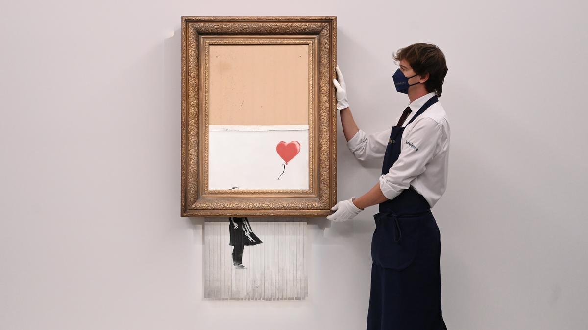 El icónico cuadro de Banksy.
