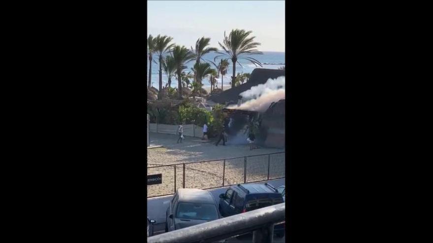 Nuevo incendio en el chiringuito Playa Padre de Marbella