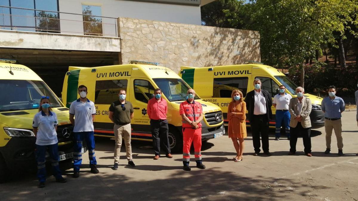 El 061 cuenta con tres nuevas ambulancias para el traslado de pacientes críticos