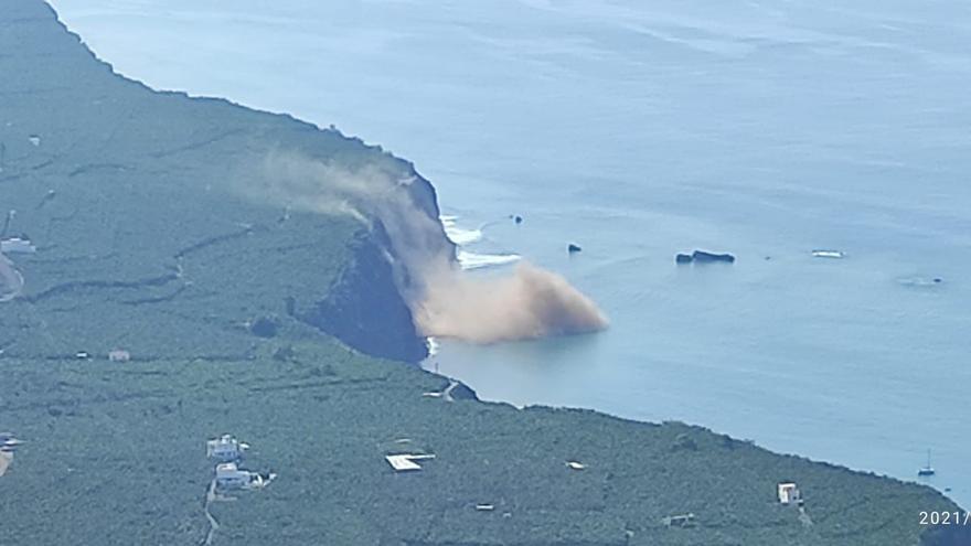 Se registran desprendimientos en la costa de Tazacorte