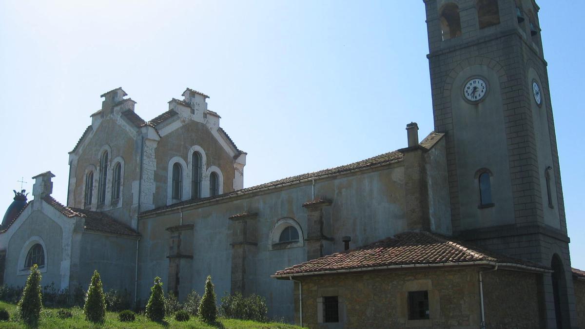Una imagen de la iglesia de Valdesoto.
