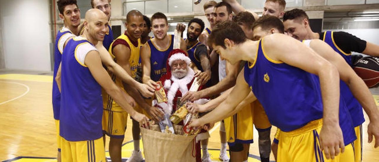 Visita de Papá Noel.