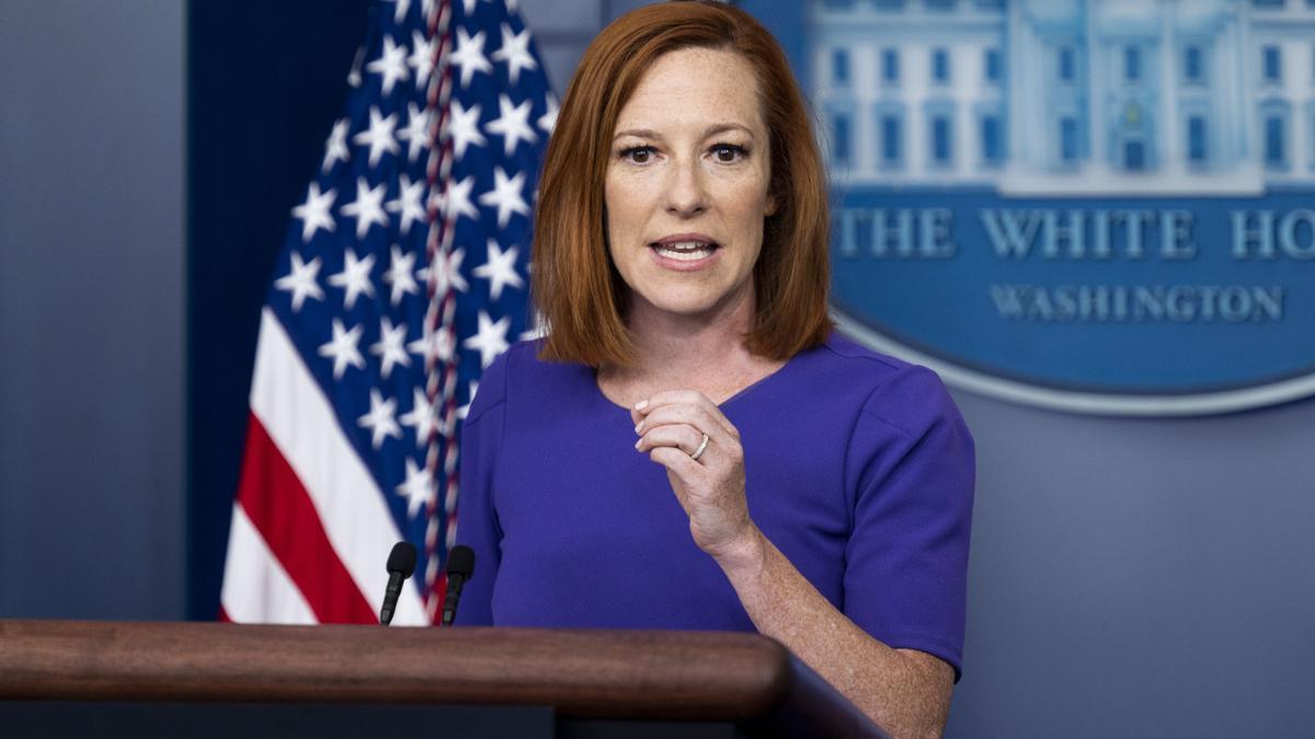 La secretaria de prensa de la Casa Blanca, Jennifer Psaki.
