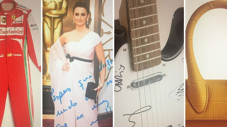 La rifa solidària d'Inditex: 20 euros pel vestit de Penélope Cruz o la guitarra de Coldplay