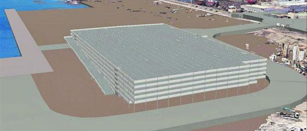 Infografía de cómo quedará el almacén de vehículos de La Luz Autoport.