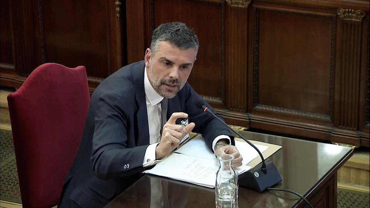Santi Vila, durante el juicio del procés