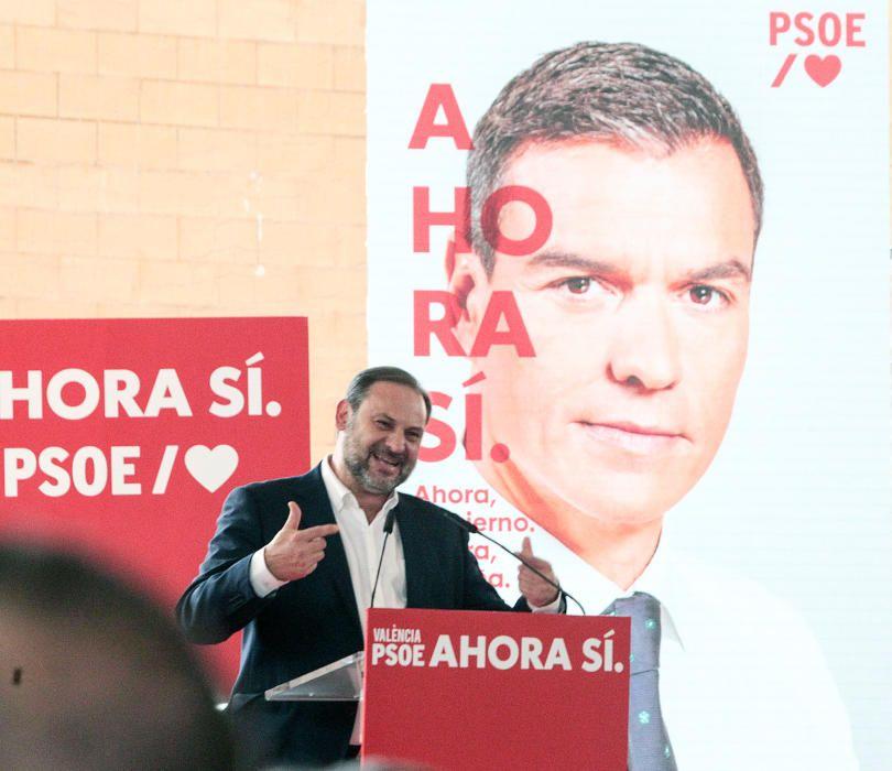 Mitin de Pedro Sánchez en Mislata