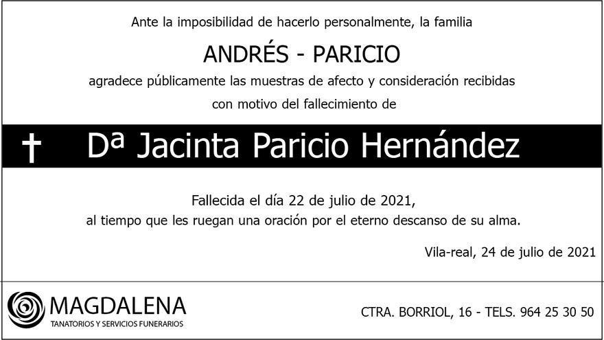Doña Jacinta Paricio Hernández