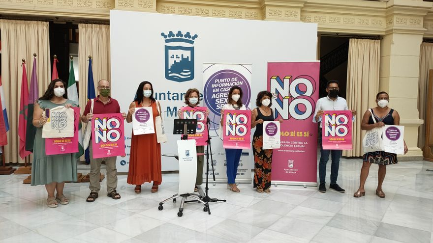 Málaga inicia la campaña contra la violencia sexual 'No es no. Sólo sí es sí'