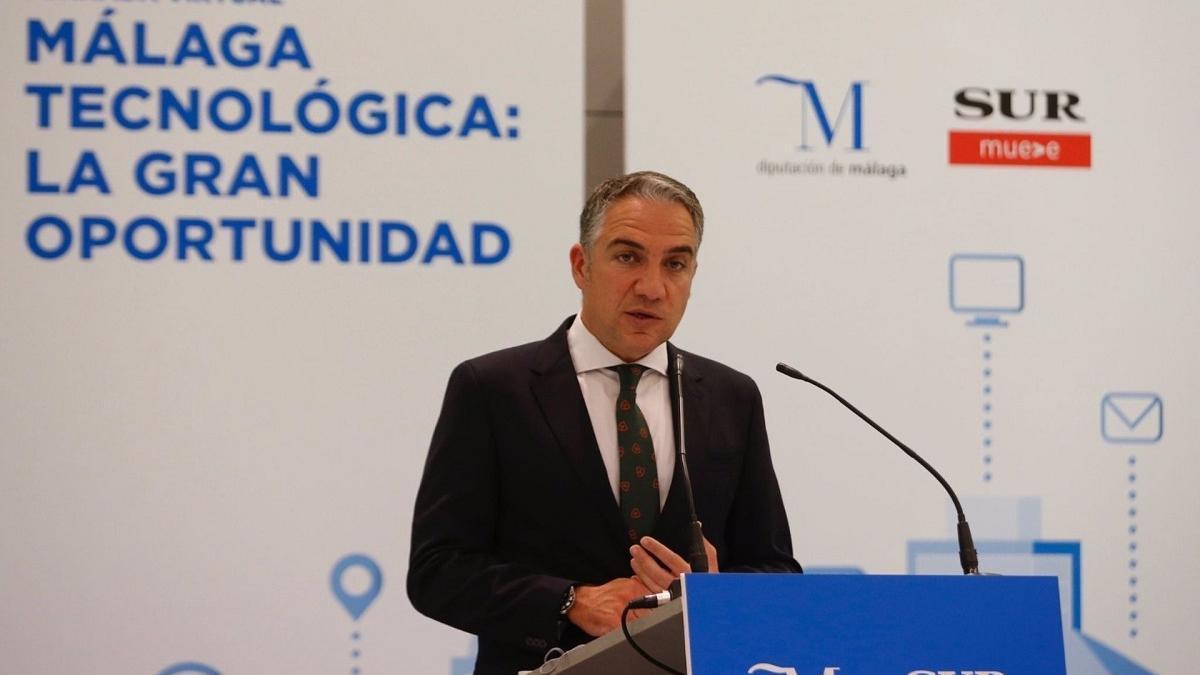 El consejero de la Presidencia, Administración Pública e Interior de la Junta de Andalucía, Elías Bendodo.