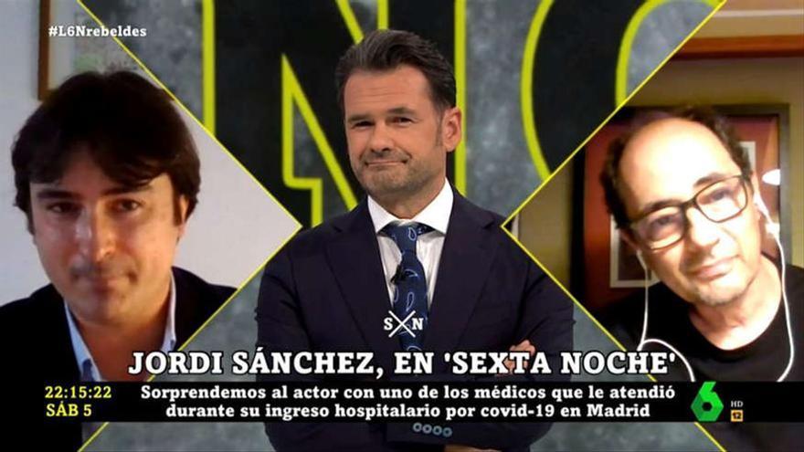 Jordi Sánchez y el emotivo reencuentro con el doctor que le atendió cuando enfermó de coronavirus