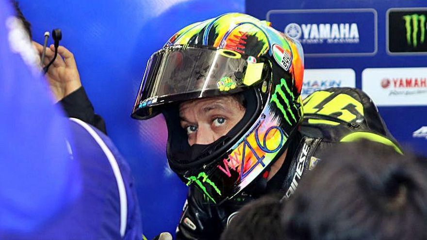 Última hora: Valentino Rossi viaja a Valencia a la espera de un segundo negativo