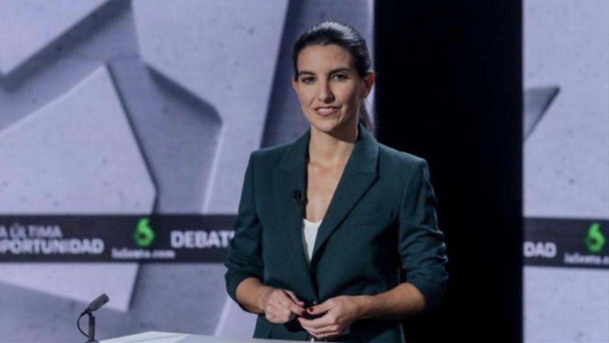 Rocío Monasterio, durante un debate electoral en La Sexta.