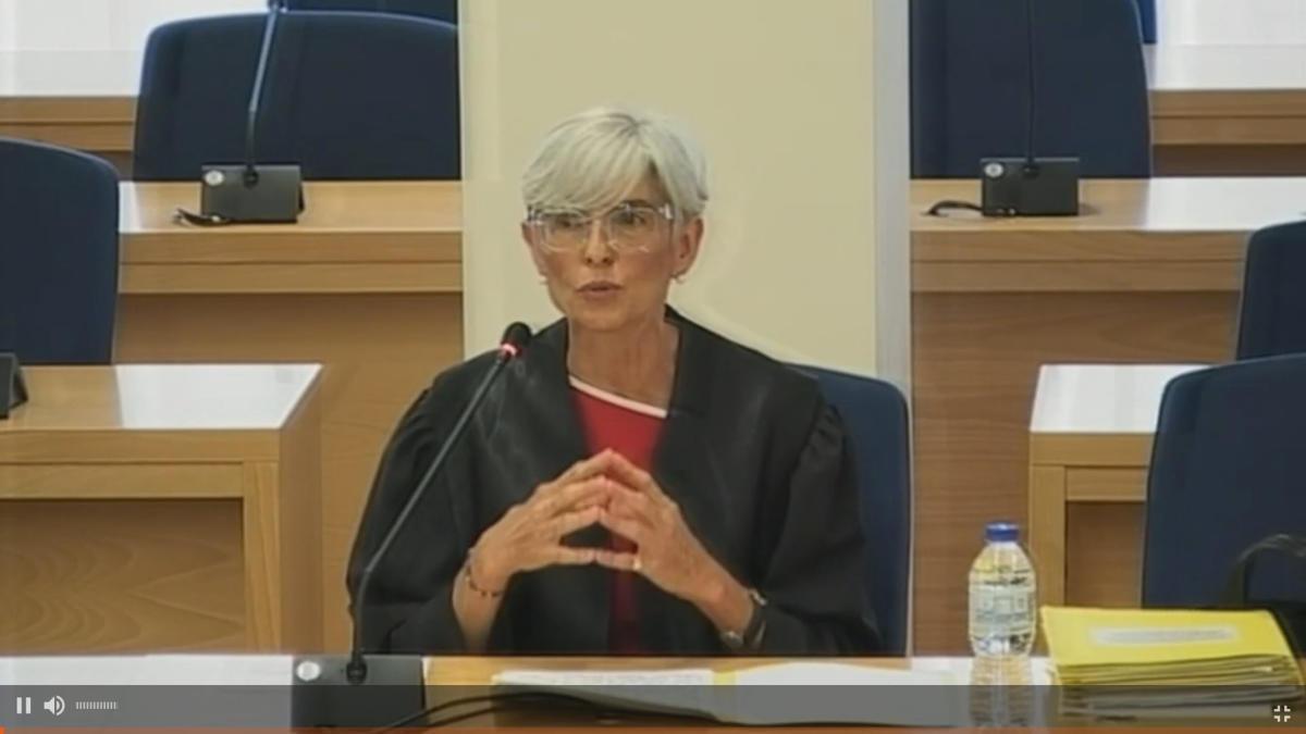 L'advocada de Trapero i Laplana, Olga Tubau, durant la seva intervenció al judici de l'Audiència Nacional