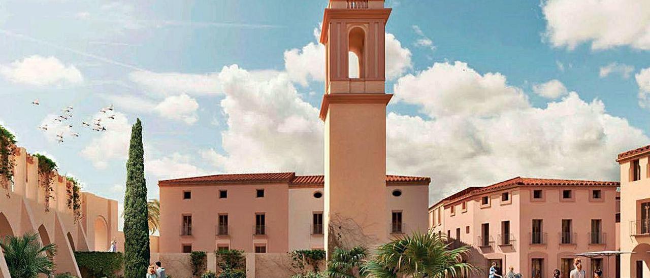 Imagen virtual de la plaza que presidirá la nueva ordenación.