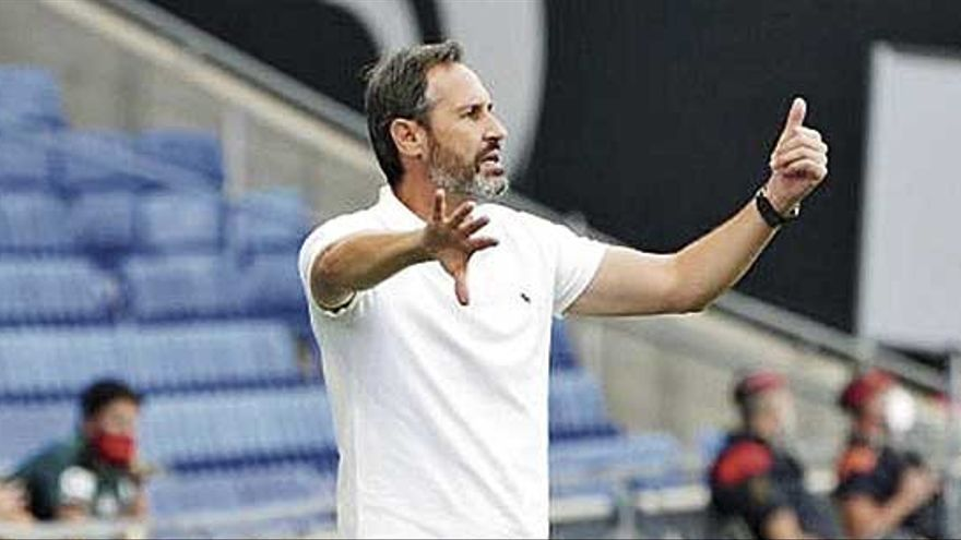 """Vicente Moreno: """"No esperaba menos de los jugadores del Mallorca"""""""