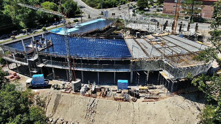 Las obras para la nueva residencia de A Estrada apuran su avance para estar rematadas en marzo