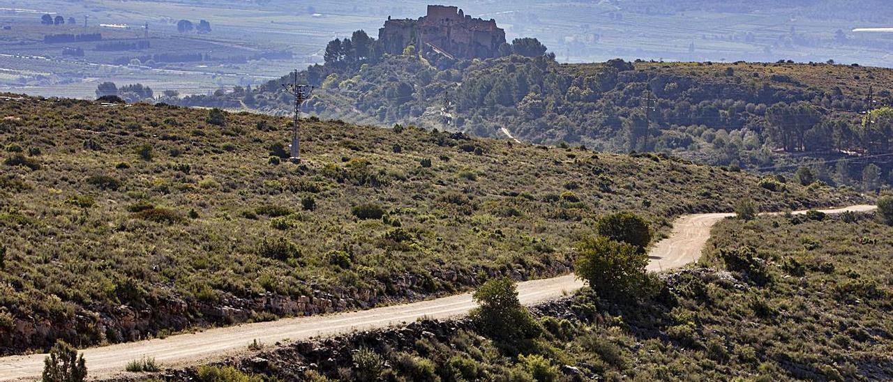 El Castell de Montesa desde las montañas al norte, posible emplazamiento de una planta solar | PERALES IBORRA