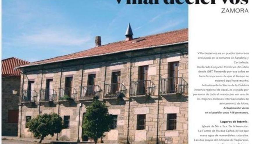Villardeciervos, en el Calendario de la España vacía