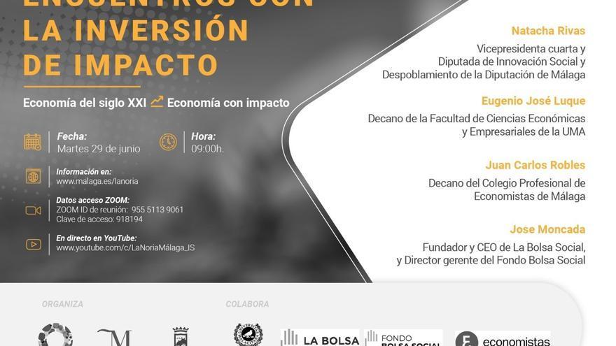 La transición a la economía de impacto a debate el martes en un encuentro virtual con Diputación y Ayuntamiento