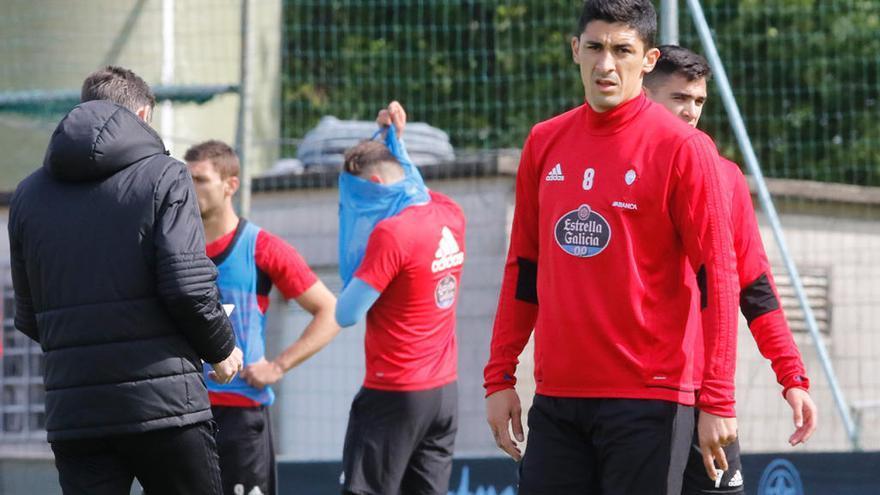 Rubén y Pablo Hernández se lesionan en el entrenamiento y son duda ante el Levante