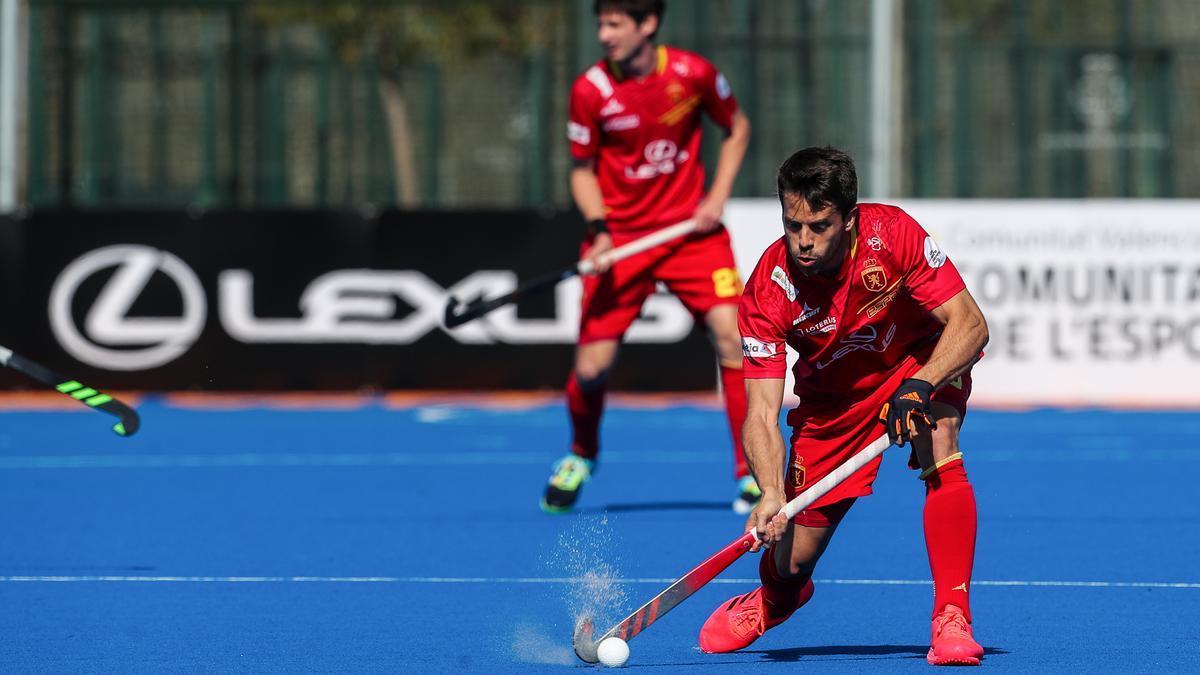 Marc Salles, jugador de la selección española de hockey hierba.