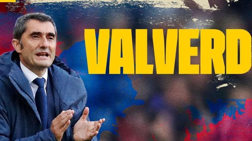 El Barça anuncia la renovació d'Ernesto Valverde