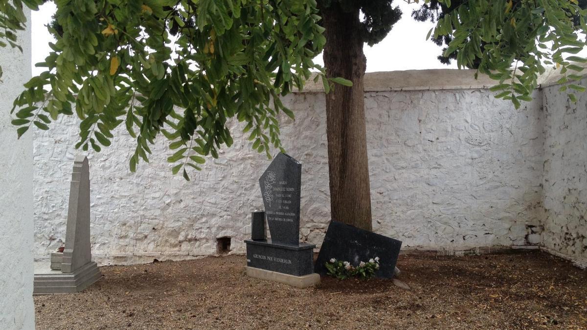 Aragón inicia los trámites para declarar la tumba de María Domínguez Remón como Bien de Interés Cultural.