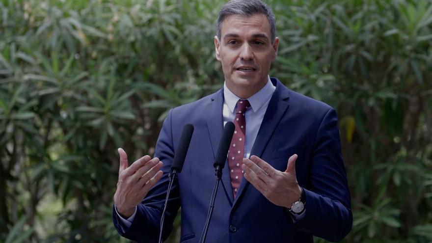 """Pedro Sánchez, en Marivent: """"El compromiso del Gobierno con Balears está siendo inédito y continuará"""""""
