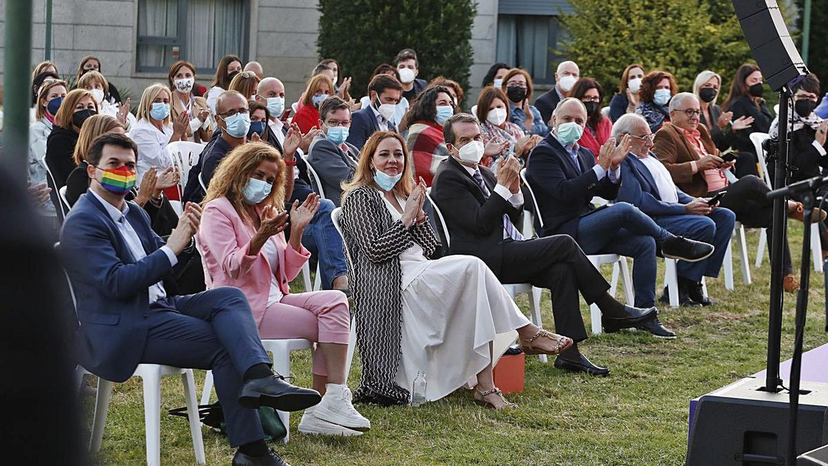 El acto de homenaje por Abelairas se celebró en Villa Solita.   | // RICARDO GROBAS