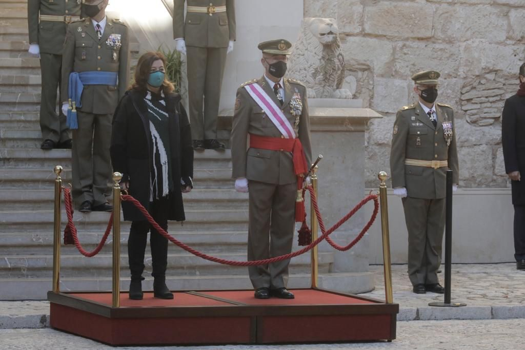 """El comandante general de Balears destaca el apoyo del Ejército al """"transporte, custodia y distribución de las vacunas"""""""