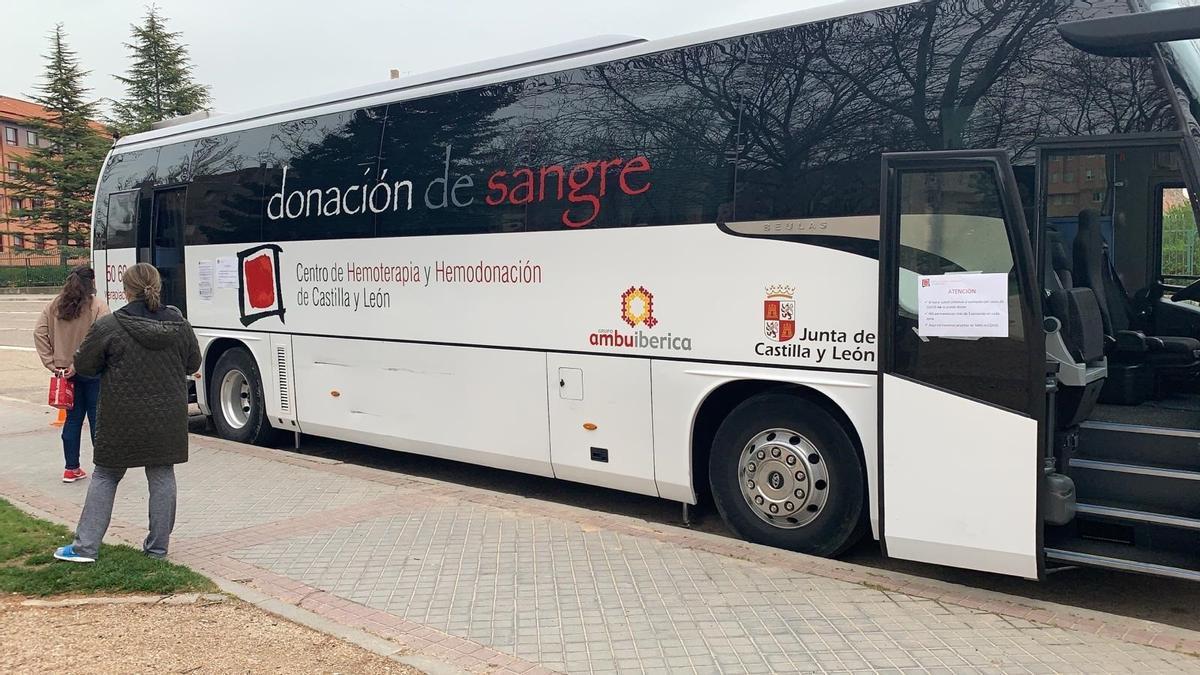 Autobús de donantes de sangre.