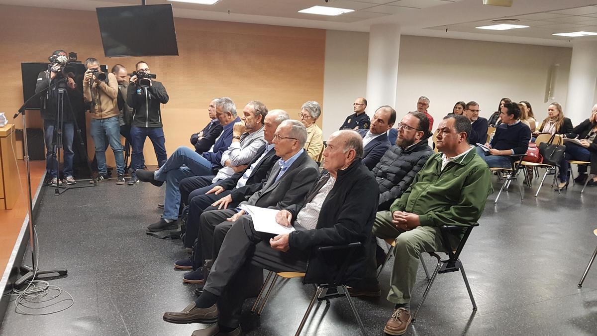 Juicio del caso Stratvs en una de las sesiones celebrada el pasado mes de enero en Arrecife.