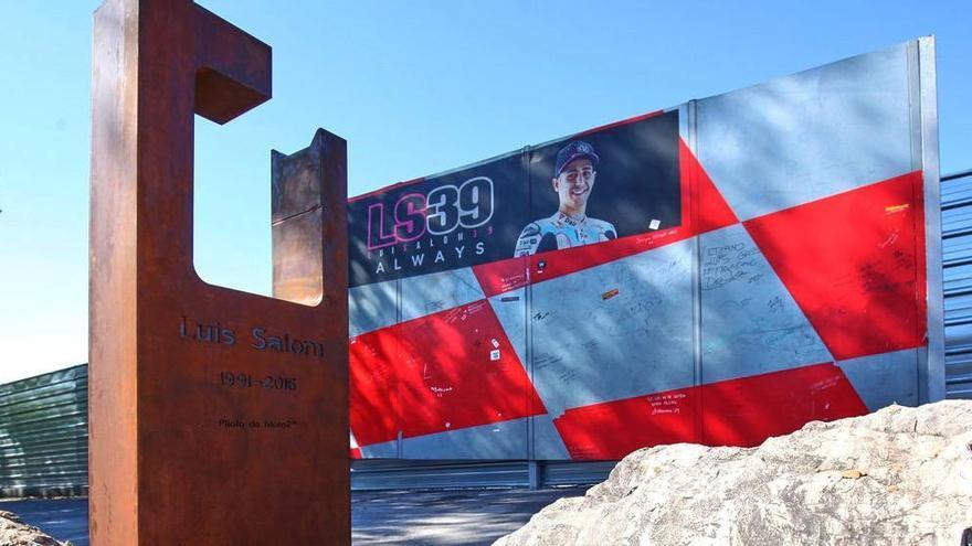 Monolito a Luis Salom en el Circuit de Catalunya