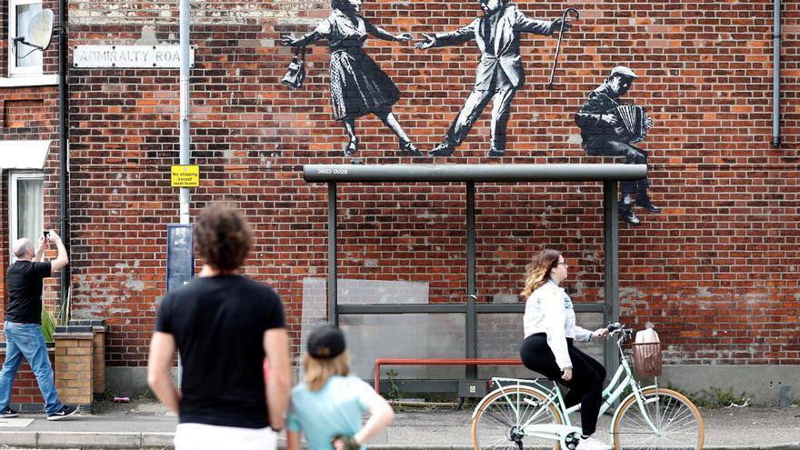 Los grafitis que aparecieron en el este de Inglaterra son de Banksy